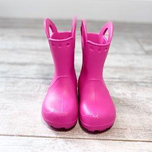 CROCS PINK New rain boots